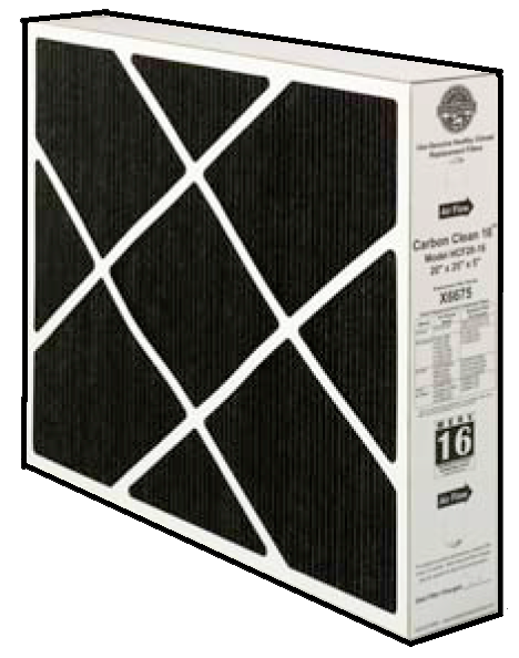 Carbon Coated Filter For Ozone And Odor Reduction